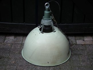 Lamp emaille groot groen 01
