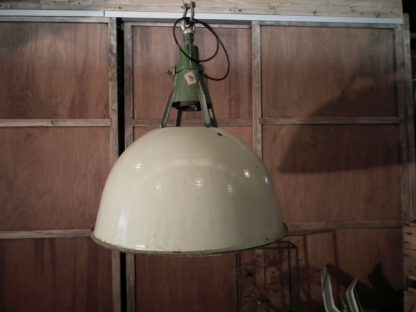 Lamp emaille groot groen 17