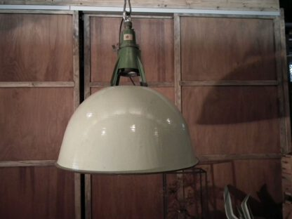 lamp groot groen emaille 18